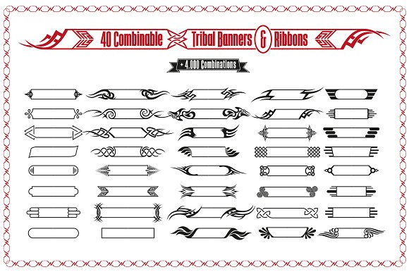 Tribal Banners Frames