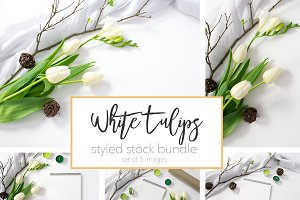 White Tulips Styled Stock Bundle