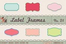 Retro Label Frames Shapes Set No 21