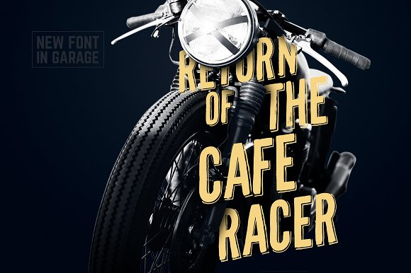 caferacer typeface ~ display fonts ~ creative market