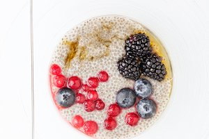 healthy superfoods breakfast bowl