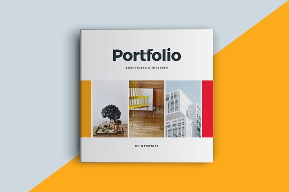 Square Portfolio Brochure Template Brochure Templates Creative