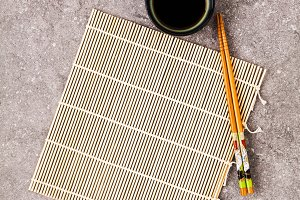 Bamboo mat for cooking sushi,