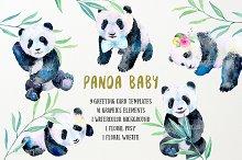 Watercolor Panda Baby