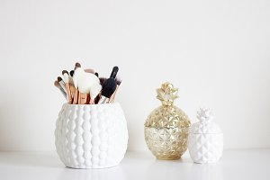 Makeup Brushes & Pineapples (Tall)
