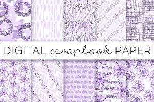 Lavender Glitter Digital Paper