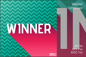 Winner Editable Vector Graphics