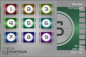 Cinema Film Countdown Vector Graphic