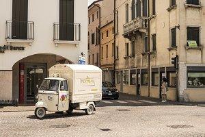 Ice cream truck in italy