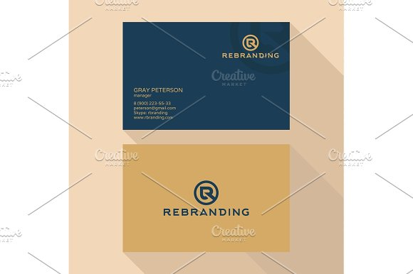 Qualitative Elegant Business Card Vector Logo And Professional Layout