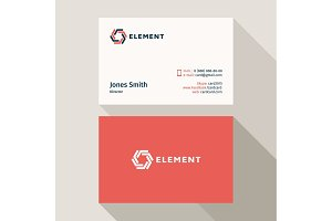 Business Card Qualitative elegant vector logo, and professional layout