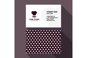 Qualitative elegant Business Card vector chef logo, and professional layout