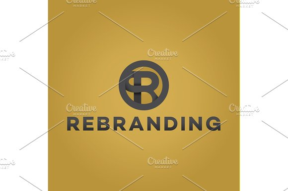 Letter R Logo Flat Style Vector Illustration Of Abstract Sign