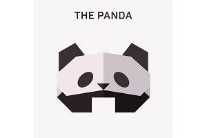 Panda Animals origami vector illustration flat Polygons