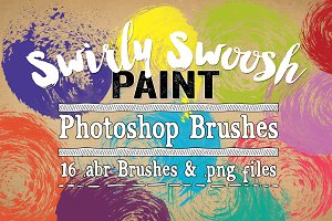 Swirly Swoosh Paint PS Brushes