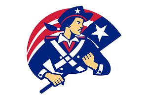 Female American Minuteman