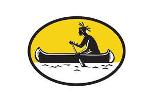 Native American Indian Paddling