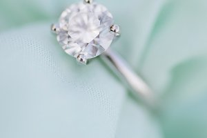 Teal Engagement Ring