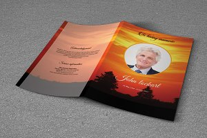 Funeral Program Template-T706