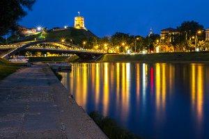 A cityscape Vilnius