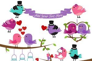 Wedding Birds Clipart and Vectors