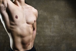 Fitness torso of young man