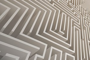 Isometric Intricacy labyrinth