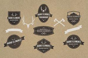 Vintage Badges - 7 Pack