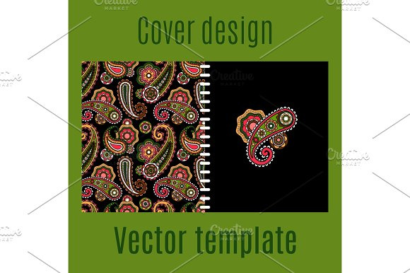 Cover Design With Paisley Pattern