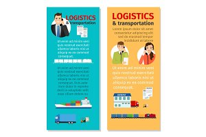 Logistics and transportation vertical flyers