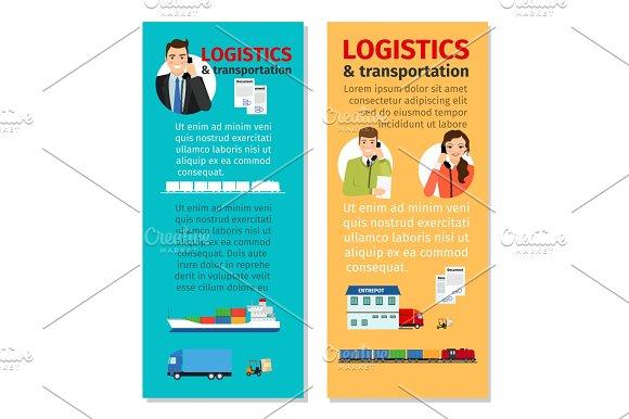 Logistics And Transportation Vertical Flyers