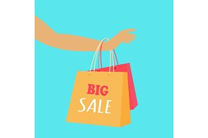 Big Sale Vector Concept in Flat Design