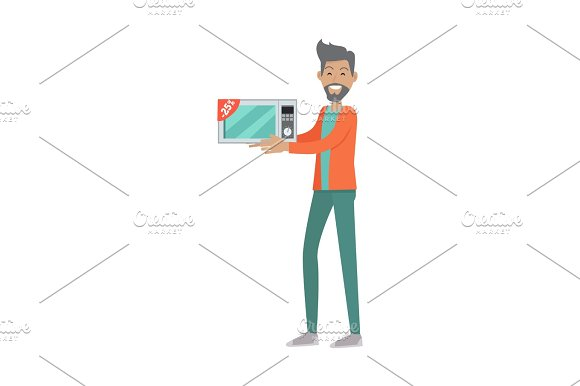 Sale In Electronics Store Flat Vector Concept