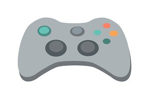 Gamepad Vector Illustration in Flat Design
