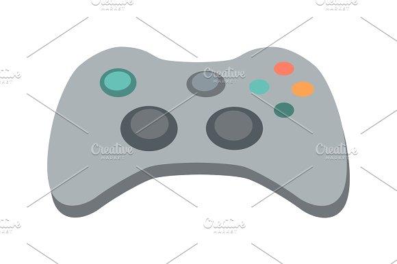 Gamepad Vector Illustration In Flat Design