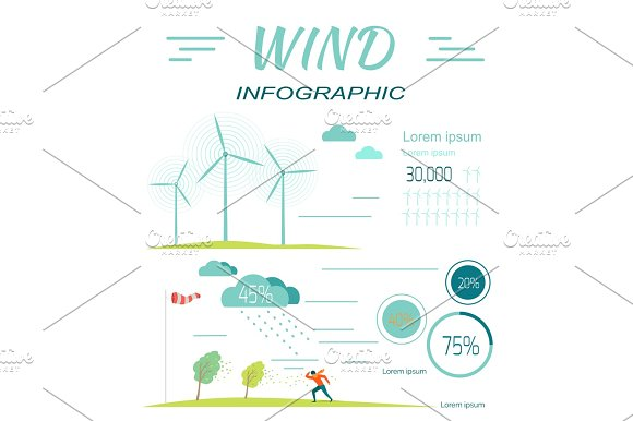Wind Infographics Windmills Meteorology Windsock