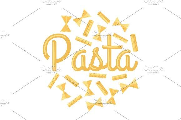 Pasta Vector Concept In Flat Design