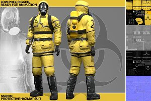 Man In Protective Hazmat Suit