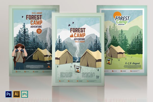Camping Poster, Flyer