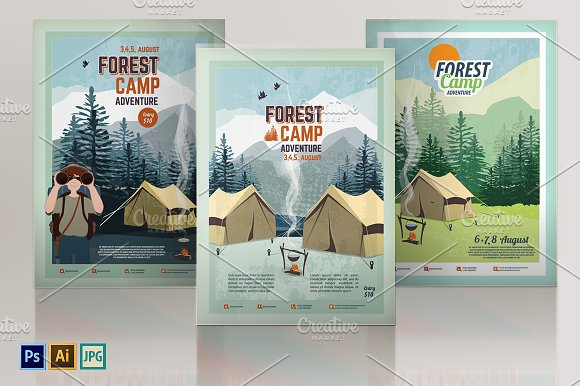 Camping Poster Flyer