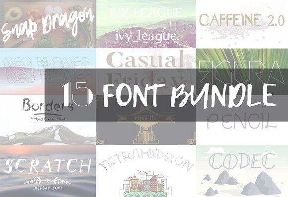 15 Font Bundle