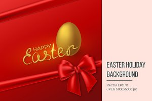 Happy Easter holiday background.
