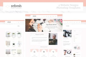 Refresh Women in Business Site PSD