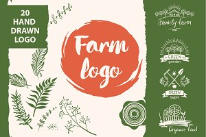 20 logo farm food