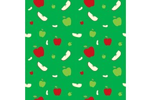 Fruits apples seamless patterns