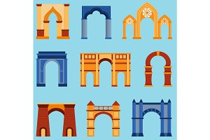 Arch vector construction illustration