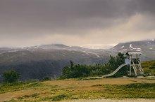 Children's slide. Norway