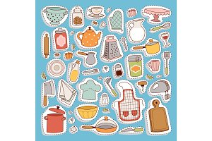 Kitchen set icon.