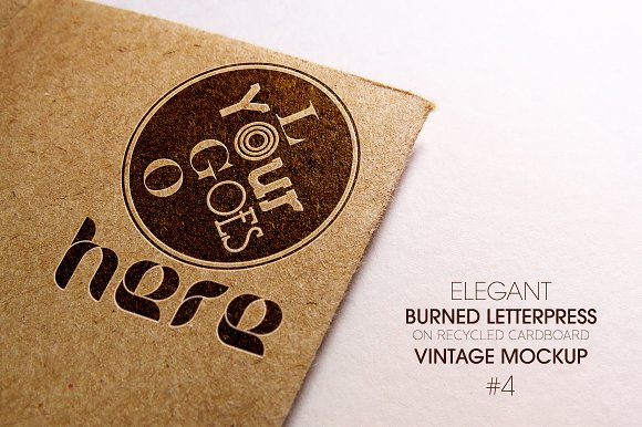 Elegant Burned Letterpress Mockup
