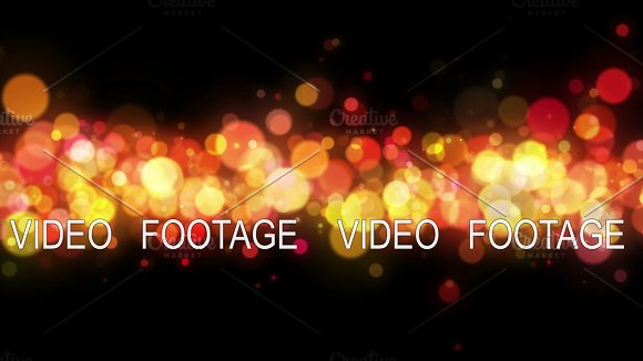 Abstract Colorful Bokeh Particles Loop Background 4K